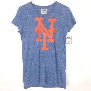 NWT Victoria's Secret PINK MLB NY Mets T-Shirt